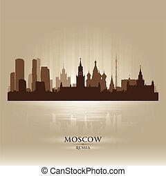 perfil de ciudad, silueta, moscú, rusia