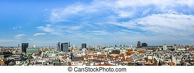 perfil de ciudad, viena, vista aérea