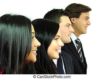 perfil, equipe negócio