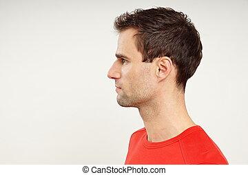 perfil, homem