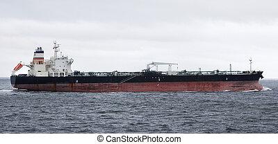perfil, lubrifique navio-tanque