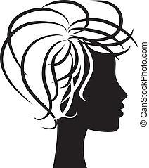 perfil, mujer