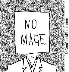 perfil, no, mano, picture., usuario, drawn.