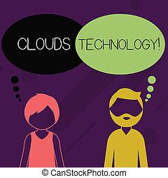 perfil, nubes, barbudo, concepto, faceless, empresa /...