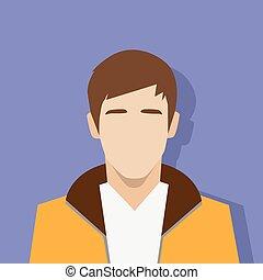 perfil, pessoa, avatar, retrato, macho, casual, ícone