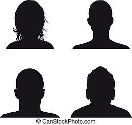 perfil, pessoas