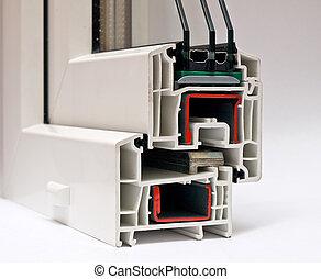 perfil, windows, pvc, fabricación, sistema