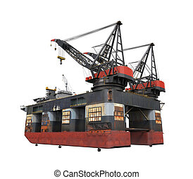 perforación, plataforma cercana costa, plataforma petrolera