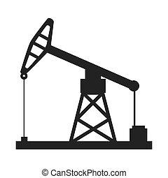 perforación, torre, industria