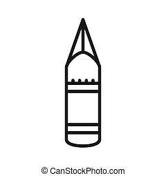 perforando borsa, disegno, illustrazione