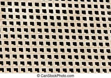 Perforated cement block wall