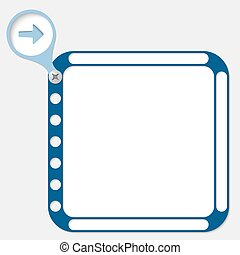 perforated frame for any text and arrow