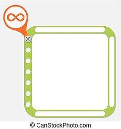 perforated frame for any text and infinity symbol