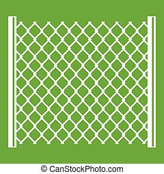 Perforated gate icon green