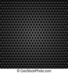 Perforated leather - Carbon background of abstract squares...