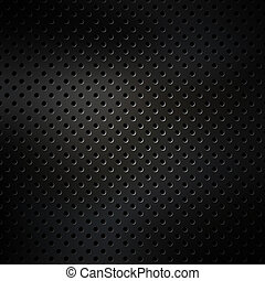 Perforated metal surface.