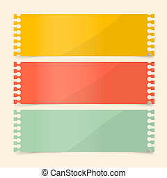Perforated Papers Set Vector Illustration