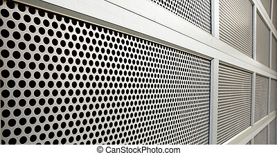 perforated Security door - Perforated Steel Garage Security...