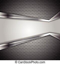 perforato, astratto, metallo, fondo