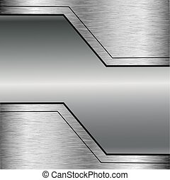 perforato, astratto, vettore, metallo, fondo