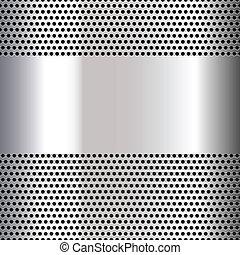 perforato, grigio, foglio, fondo
