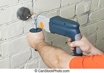 perforator, house-builder, 工作