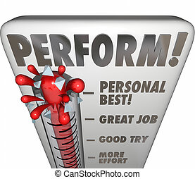 Perform Thermometer Measure Score Feedback Grade Rating Success
