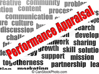 Performance appraisal word cloud