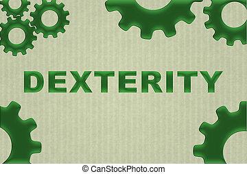 performance, concept, dextérité, -