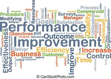 performance, concept, fond, amélioration
