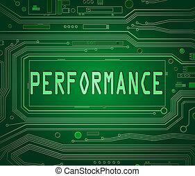 Performance concept.