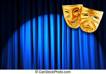 performance, concept, théâtre, masques