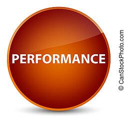 Performance elegant brown round button