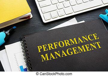 performance, gestion, table., documents, bureau