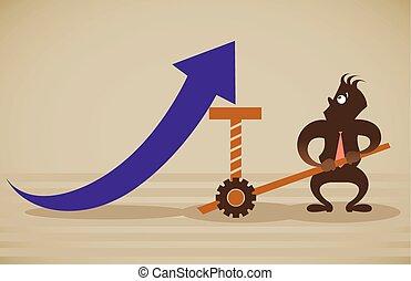 Performance improvement. Vector illustration on a background