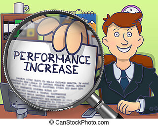 Performance Increase through Lens. Doodle Style.