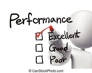 performance, liste, vérification, par, 3d, homme