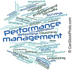 Performance management - Abstract word cloud for Performance...