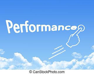 performance message cloud shape
