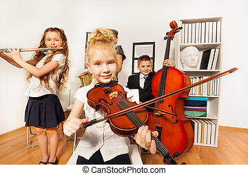 Performance of kids who play musical instruments
