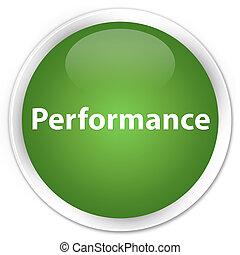 Performance premium soft green round button