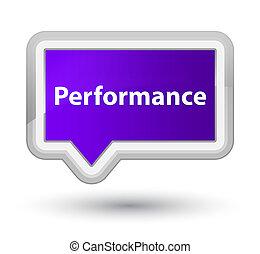 Performance prime purple banner button
