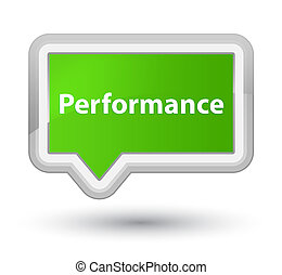 Performance prime soft green banner button