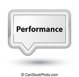 Performance prime white banner button