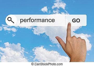performance, recherche, toolbar