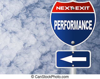 Performance road sign