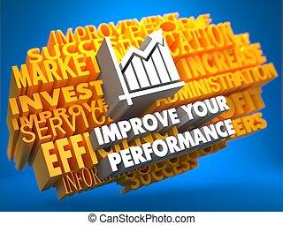 performance, ton, améliorer, concept.
