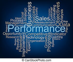 Performance word cloud, vector