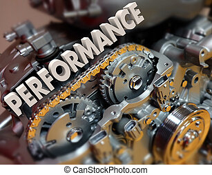 Performance Word Engine Car Automotive Motor Speed Racing
