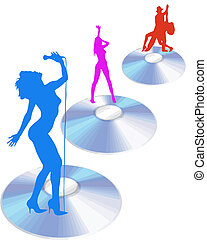 performers on cd vector